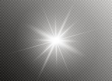 Effet de la lumière de lueur Éclat d'étoile avec des étincelles Illustration de vecteur Images libres de droits