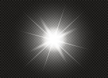 Effet de la lumière de lueur Éclat d'étoile avec des étincelles Illustration de vecteur Image libre de droits