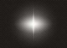 Effet de la lumière de lueur Éclat d'étoile avec des étincelles Illustration de vecteur Photographie stock