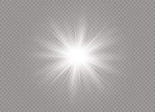 Effet de la lumière de lueur Éclat d'étoile avec des étincelles Illustration de vecteur Images stock
