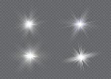 Effet de la lumière de lueur Éclat d'étoile avec des étincelles Sun Image libre de droits