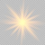 Effet de la lumière de lueur illustration libre de droits