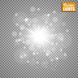 Effet de la lumière de lueur Illustration de vecteur Concept instantané de Noël Photographie stock libre de droits
