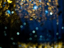 Effet de la lumière multicolore abstrait de bokeh Photographie stock libre de droits