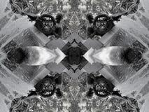 Effet de miroir d'une fontaine illustration stock