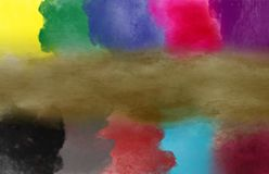 Effet de pinceau de couleur d'art abstrait photos libres de droits