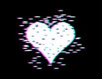 Effet de problème de coeur d'amour pour le jour de valentines jour d'amants emblème Photo stock