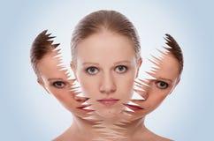 Effet, demande de règlement et soin cosmétiques de peau image stock
