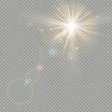 Effet des cercles de bokeh avec l'éclat du soleil Effet de fusée de lentille ENV 10 illustration stock