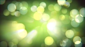 Effet frais de nature légère de bokeh Fond abstrait brillant magique brouillé de forêt de ressort banque de vidéos
