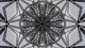 Effet kaléïdoscopique des structures de pont en métal illustration de vecteur