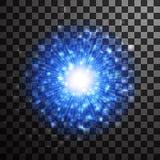 Effet léger rougeoyant bleu de scintillement d'étoile Tex de scintillement de lueur magique Image libre de droits