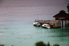 Effet miniature sur des bateaux Photo libre de droits