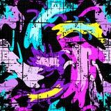 Effet sans couture géométrique de grunge de modèle de graffiti lumineux illustration libre de droits