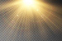 Effet spécial de fusée légère avec des rayons de lumière illustration de vecteur