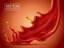 Effet spécial liquide rouge Images libres de droits