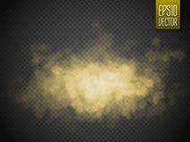 Effet spécial transparent d'isolement par fumée d'or Illustration de vecteur illustration libre de droits