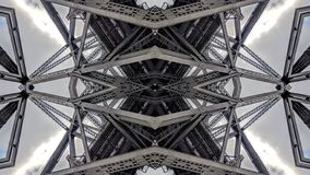 Effet surréaliste des structures de pont en métal illustration de vecteur
