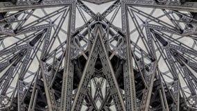 Effet surréaliste des structures de pont en métal illustration libre de droits