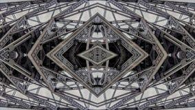 Effet surréaliste des structures de pont en métal illustration stock