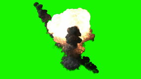 Effet vert d'explosion de bombe de chromakey banque de vidéos