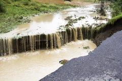 Effets de l'inondation image libre de droits