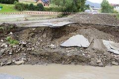 Effets de l'inondation images stock