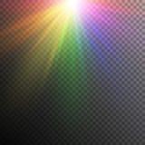 Effets de la lumière d'arc-en-ciel Image libre de droits