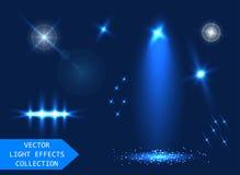 Effets de la lumière réglés illustration de vecteur