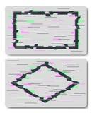 Effets de problème en forme de rectangle et de losange illustration libre de droits