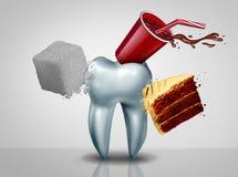 Effets de Sugar On Teeth illustration stock