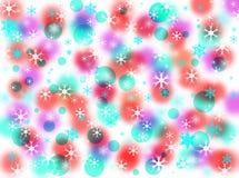 Effets de tache floue de fond de Noël images libres de droits