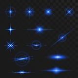 Effets légers de fusée de lueur illustration libre de droits