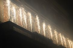 Effets pyrotechniques image stock