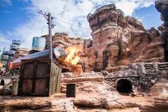 Effets spéciaux d'Armageddon, Walt Disney Studios Park Paris image libre de droits