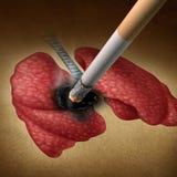 Effets sur la santé de tabagisme Image stock
