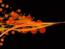 Effetti arancio della sfuocatura del fondo del fulmine Fotografia Stock Libera da Diritti
