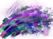 Effetti blu della spruzzata dell'acquerello Fotografia Stock