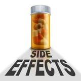 Effetti collaterali del farmaco di prescrizione royalty illustrazione gratis