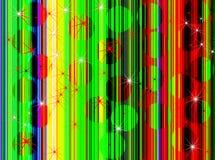 Effetti d'annata della sfuocatura del fondo di Discoball Immagine Stock