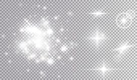 Effetti della luce brillanti fissati Fotografie Stock Libere da Diritti