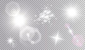 Effetti della luce cosmici fissati Immagine Stock