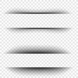 Effetti ombra di carta realistici trasparenti su un fondo a quadretti Immagine Stock