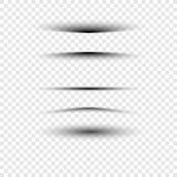 Effetti ombra di carta realistici trasparenti su un fondo a quadretti Immagini Stock Libere da Diritti