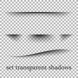 Effetti ombra di carta realistici trasparenti su un fondo a quadretti Fotografia Stock Libera da Diritti