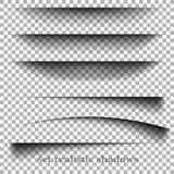 Effetti ombra di carta realistici trasparenti su un fondo a quadretti Fotografia Stock