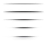 Effetti ombra di carta realistici trasparenti su un fondo a quadretti Fotografie Stock Libere da Diritti