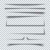 Effetti ombra di carta su fondo a quadretti trasparente Immagini Stock