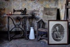Effetti personali abbandonati della casa Fotografia Stock