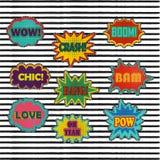 Effetti sonori comici della toppa nello stile di vettore di Pop art Bolla sana Fotografia Stock Libera da Diritti